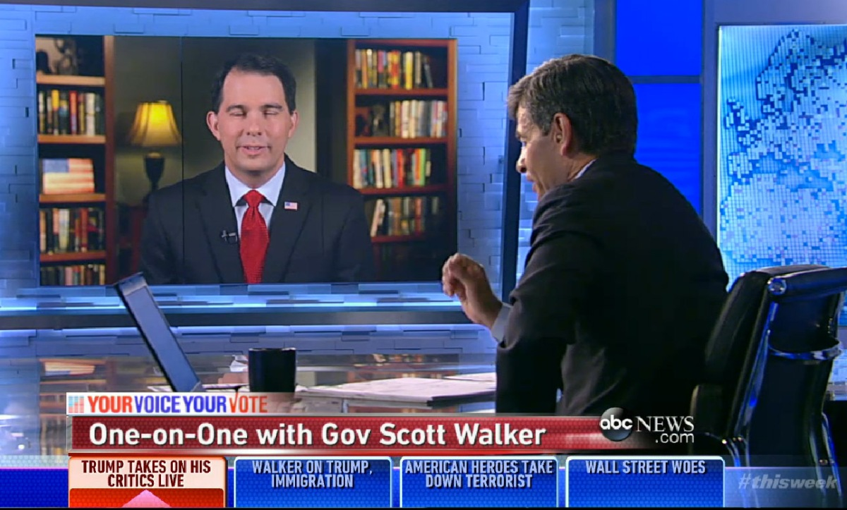 "Scott Walker lies on ""This Week with George Stephanopoulos ..."