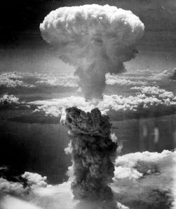 US dropped atomic bomb on Nagasaki, August 9, 1945.