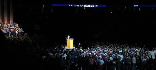 Bernie Sanders rally, Madison, WI April 2, 2016. Photo: Barbara With