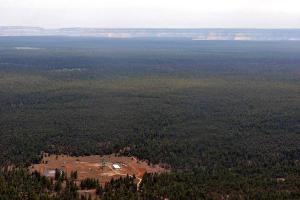 Energy Fuels Inc. mine just south of the Grand Canyon. Photo: Bruce Gordon/Ecoflight, via Center for Biological Diversity