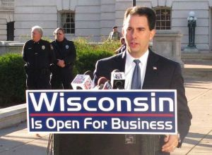 "Despite Walker's signs that Wisconsin is ""Open for Business"" Forbes calls Wisconsin ""one of the worst states for business."""