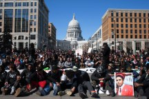 Student walkout March 9, 2015