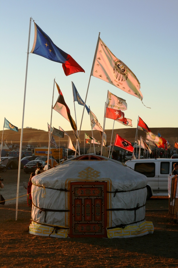 Yurts will provide safer winter accommodations in the harsh ND winter.Photo credit: Leslie Amsterdam
