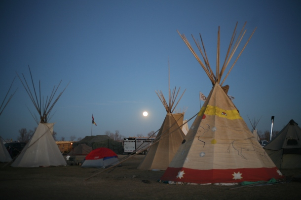 Supermoon at Oceti Sakowin Camp 11.14.2016