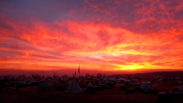 Sunrise over Oceti Sakowin Camp 11.14.2016