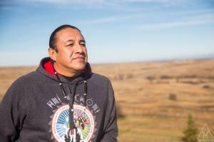 Doug Good Feather at Standing Rock. Photo: Adam Alexander Johanssen